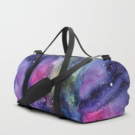 Galaxy Watercolor Night Sky Painting Nebula Art Duffle Bag