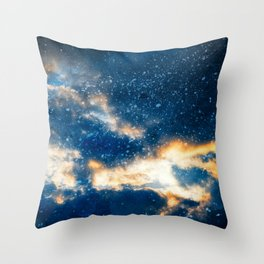 Glowing Acrylic Clouds Throw Pillow