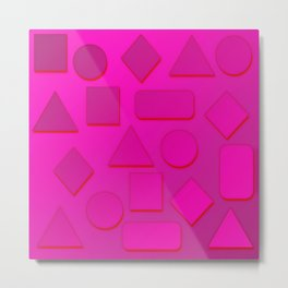 0807 Play with gradient and forms 4 ,,, Metal Print