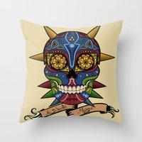 majora Throw Pillows featuring La Santa Majora by Faniseto