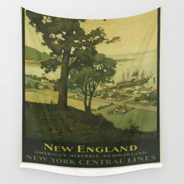 Vintage poster - New England Wall Tapestry