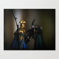 tolkien Canvas Prints featuring Tolkien Warriors by Madeline Audrey