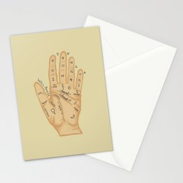 Hand Fortune Lines | Palm Reading Stationery Cards