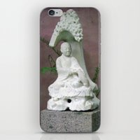 buddah iPhone & iPod Skins featuring Sitting Buddah by WiccedArt