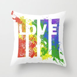 LOVE/COLOR Throw Pillow