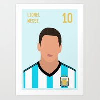 messi Art Prints featuring MESSI by Anthony Morell