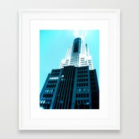 comic book Framed Art Prints featuring Comic Book Chicago by A/B Photography