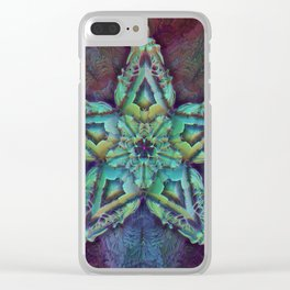 Fractal Star - Geometric - Psychedelic - Manafold Art Clear iPhone Case