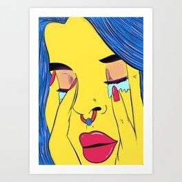Pretty when I cry 2 Art Print
