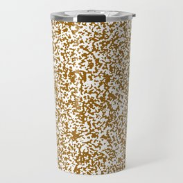 Tiny Spots - White and Golden Brown Travel Mug