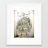 fishing Framed Art Prints featuring fishing by meme
