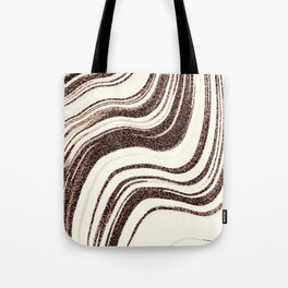 Textured Marble - Brown & Cream Tote Bag