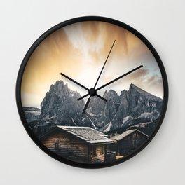 seiser alm Wall Clock