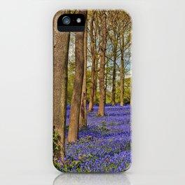 Bluebell Woods Greys Court Oxfordshire England UK iPhone Case