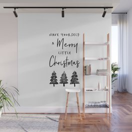 Merry Little Christmas Wall Mural
