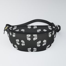 Leaves White pattern Fanny Pack