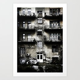 Ruined Building in Belgrade Art Print