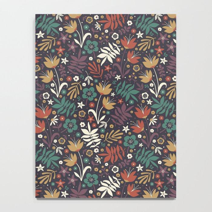 Midnight Florals Notebook