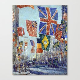 Childe Hassam Avenue of the Allies, Great Britain Canvas Print