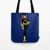 batgirl Tote Bags featuring Batgirl by karla estrada