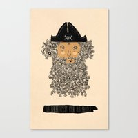 pirate Canvas Prints featuring Pirate  by okionero