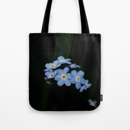 Blue within black Tote Bag