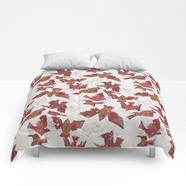 Snowy Cardinals Comforters
