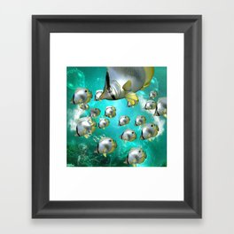 Wonderful butterflyfish  Framed Art Print
