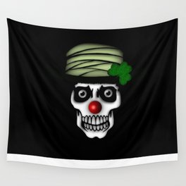 Irish Clown Skeleton Wall Tapestry