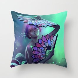 The art of the leaf-stripping Throw Pillow
