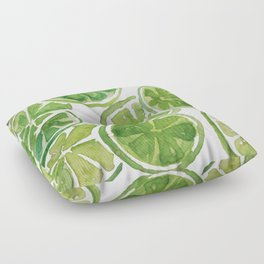 Watercolor LIMES Floor Pillow