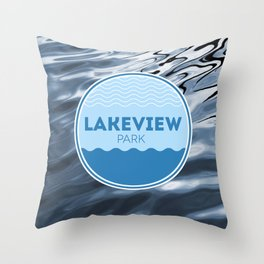 Lakeview Park Throw Pillow