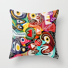 Life is beautiful street art graffiti Throw Pillow
