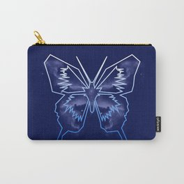 Galactica Blue Butterfly Carry-All Pouch
