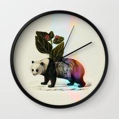 Auricular panda Wall Clock