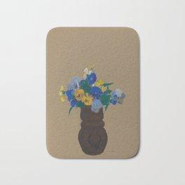 Odilon Redon - Pansies Bath Mat