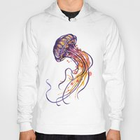 jellyfish Hoodies featuring Jellyfish by Sam Nagel