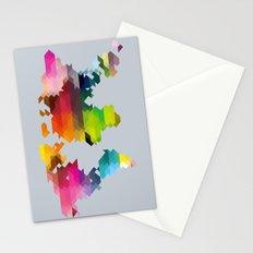 Geo World Map Stationery Cards