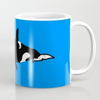 orca Mugs featuring Orca by Whimsy Notions Designs