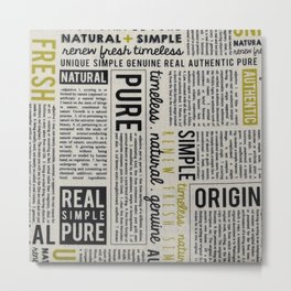 Newspaper Metal Print
