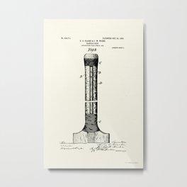 Cricket Bat Patent - Circa 1906 Metal Print
