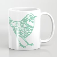 birdy Mugs featuring Birdy by Charline Denys