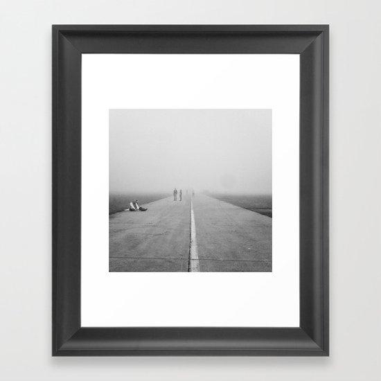 Misty Road Framed Art Print