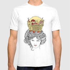 The Queen of Montreal White Mens Fitted Tee MEDIUM
