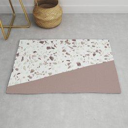 Terrazzo Texture Antique Pink #6 Rug