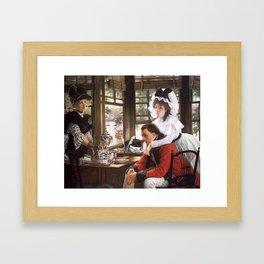 James Jaques Tissot Bad News The Parting 1872 Framed Art Print
