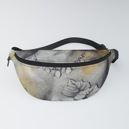 Colony Collapse Disorder: Gold (nude warrior woman with autumn leaves) Fanny Pack