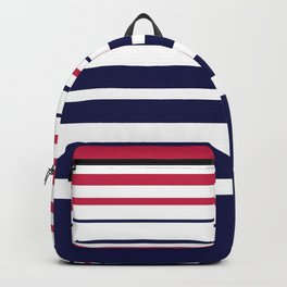 Striped red blue white Backpack