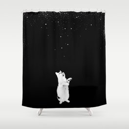 Kitty See Snow Shower Curtain