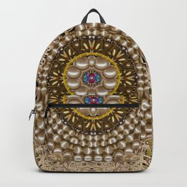 Moon shine over the wood in the night of glimmering pearl stars Backpack